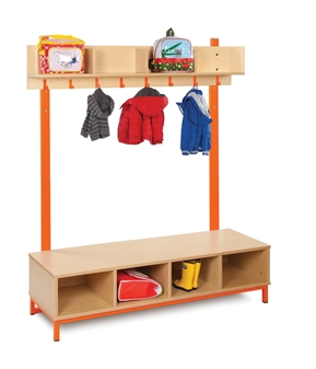 Cloakroom Top with 4 Open Compartments Bottom with 4 Open Compartments thumbnail