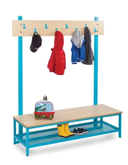 Cloakroom Top With 8 Hooks Bottom With Boot Rack thumbnail