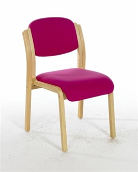 LISTON Beech Wooden Conference / Meeting Room Chair - Vinyl  thumbnail