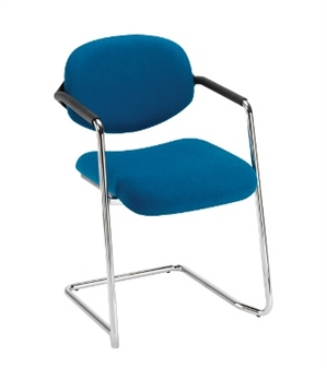 Gloucester Cantilever Chair Shown With Chrome Frame thumbnail