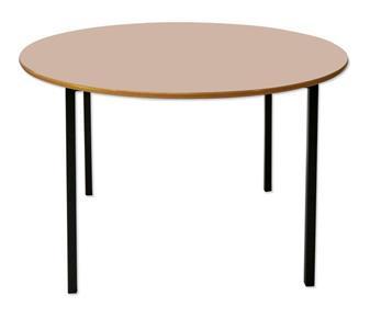Round School Table MDF Edge