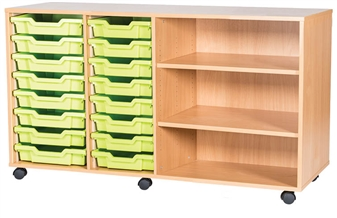 8 High 16 Tray Quad Side Shelf Shown With Optional Castors thumbnail
