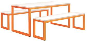 Pastel Orange Frame With White Top thumbnail