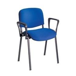 Ecton Stacking  Arm Chair Black Frame thumbnail
