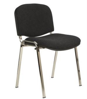 Ecton Stacking Side Chair Chrome Frame thumbnail