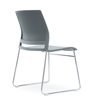 Verse A-Frame Stacking Chair GREY - Back View thumbnail
