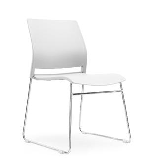 Verse A-Frame Stacking Chair WHITE thumbnail
