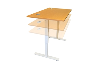 Ergolift Height Adjustable Desk - Beech thumbnail