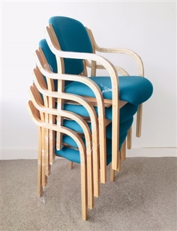 Cassius Chair - Turquoise Fabric thumbnail