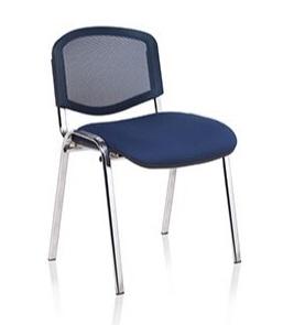 F1C Mesh Back Stacking Chair With Chrome Frame - Vinyl thumbnail
