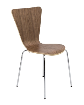 Contract Cafe / Bistro Chair In Walnut thumbnail