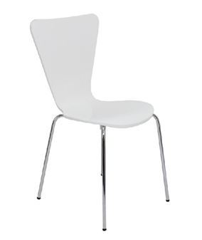 Contract Cafe / Bistro Chair In White thumbnail