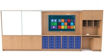 Teacher Storage Wall - 5 Metres Wide thumbnail
