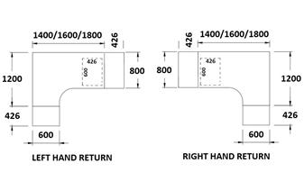 Desk & Pedestal Dimensions  thumbnail