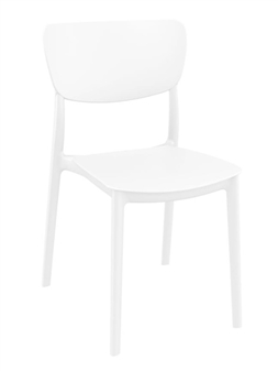 Monsa Stacking Chair - White thumbnail