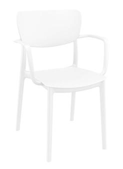 Monsa Stacking Armchair - White thumbnail