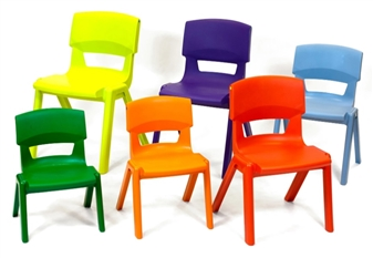 Postura Plus One-Piece Classroom Chair - Group Shot thumbnail