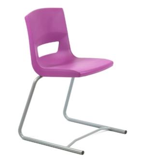 Postura Plus Reverse Cantilever Chair - Grape Crush thumbnail