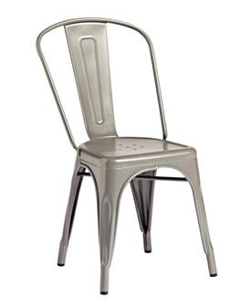 Piero Metal Bistro Chair - Gun Metal thumbnail