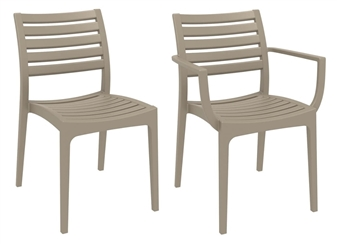 Marco Side Chairs - Taupe thumbnail