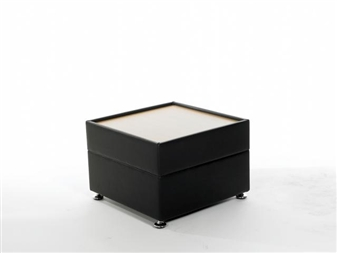 DOLFIN Reception Coffee Table With Wooden Top - Vinyl thumbnail