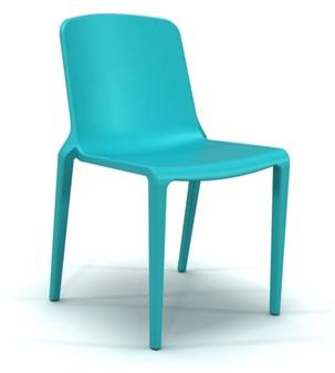 Rix One Piece Stacking Chair - Aqua Blue thumbnail