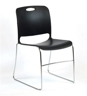 Noah Stacking Chair - Black thumbnail