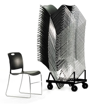 Noah Stacking Chair Trolley - Can Hold Up To 38 Chairs thumbnail