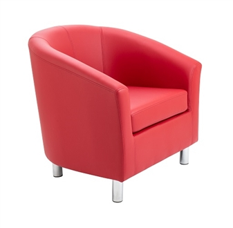 Junior Tub Chair - Red thumbnail