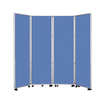 4 Panel Mobile Folding Convertina Room Divider thumbnail