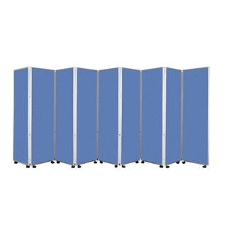 9 Panel Mobile Folding Convertina Room Divider thumbnail