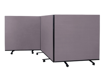 Mobile Floorstanding Partition Screens - 1200mm High thumbnail