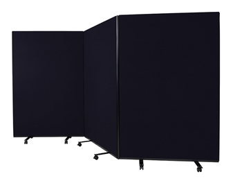 Mobile Floorstanding Partition Screens - 1800mm High thumbnail