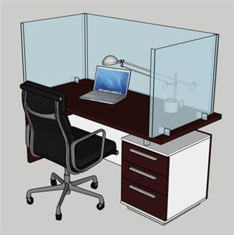 Deskshield Freestanding Acrylic Screens - 3 Sceens Placed At Right Angles thumbnail