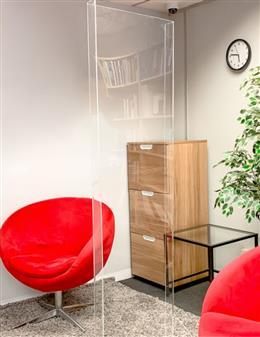 Deskshield Full Height Acrylic Protection Barrier thumbnail