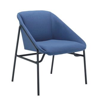 Ruby Reception Chair in Navy Fabric thumbnail