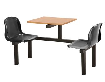 FD1 Fast Delivery Fast Food Unit - 2 Seater, Beech Table thumbnail