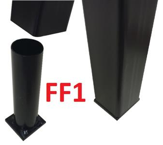 FF1 - Set Of 2 To Fit Inside Unit's Legs On Opposite Corners (Bolt Hole In Centre Of Square Plate) thumbnail