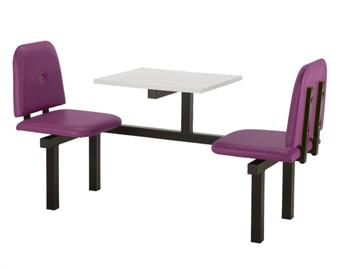 SD5 Fast Food Unit - 2 Seater, White Table thumbnail