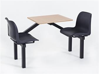 Eco Range Fast Food Seating Unit - 2-Seater  thumbnail