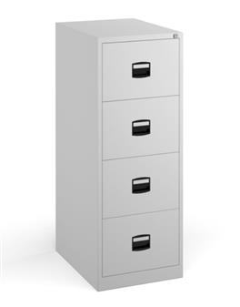 SO Steel Filing Cabinet - 4-Drawer, White thumbnail