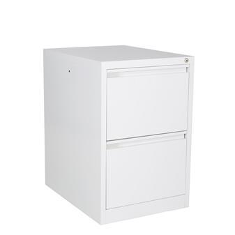 White Metal 2-Drawer Filing Cabinet thumbnail