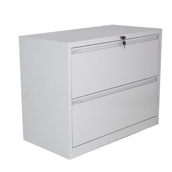 2-Drawer Side Filing Cabinet - Grey thumbnail