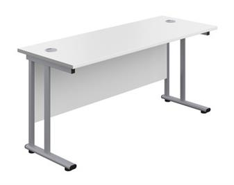 Start 600mm Deep Desk In White thumbnail