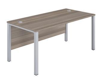 Goalpost Leg Desk - Grey Oak thumbnail