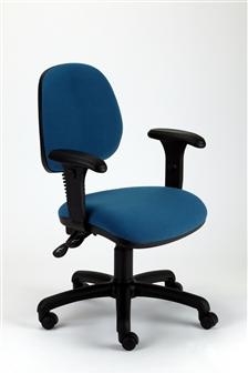 MIMPZA Medium-Back Operator Chair With Adjustable Arms - Vinyl thumbnail