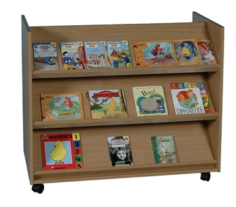 Library Unit With 3 Angled Shelves Each Side thumbnail