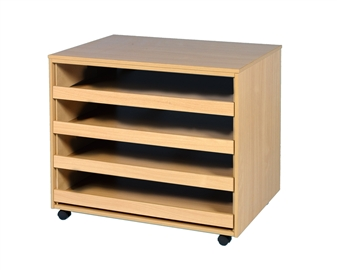 4 Sliding Drawer Open Paper Storage Unit - Mobile thumbnail