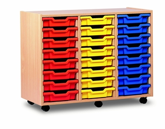 Wooden 24 Shallow Tray Storage Mobile thumbnail