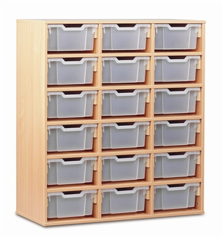Wooden 18 Deep Tray Storage Static thumbnail